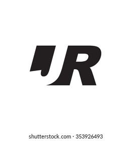 JR negative space letter logo