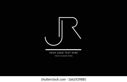 JR RJ abstract vector logo monogram template