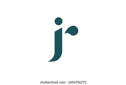 jr or rj and j or r Letter Initial Logo Design, Vector Template
