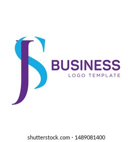 JS business logo design. Company. Monogram. Letters J and S.