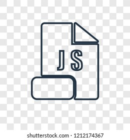 Js concept vector linear icon isolated on transparent background, Js concept transparency concept in outline style