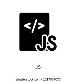 Js icon. Js symbol design from Programming collection. Simple element vector illustration on white background.