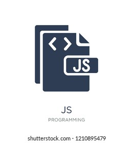 Js icon. Trendy flat vector Js icon on white background from Programming collection, vector illustration can be use for web and mobile, eps10
