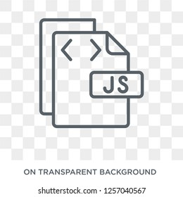 Js icon. Trendy flat vector Js icon on transparent background from Programming collection. High quality filled Js symbol use for web and mobile
