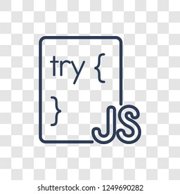 Js icon. Trendy linear Js logo concept on transparent background from Programming collection