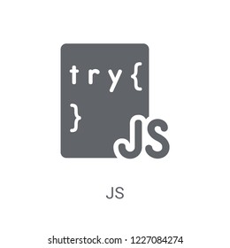 Js icon. Trendy Js logo concept on white background from Programming collection. Suitable for use on web apps, mobile apps and print media.