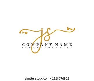 JS Initial handwriting logo vector