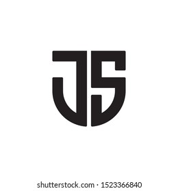 JS initial letter logo template vector icon design
