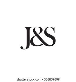 J&S Initial logo. Ampersand monogram logo