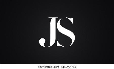 JS Letter Logo Design Template Vector