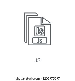 Js linear icon. Js concept stroke symbol design. Thin graphic elements vector illustration, outline pattern on a white background, eps 10.