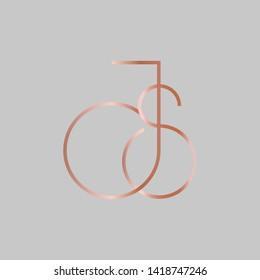 JS logo design. Vector illustration.