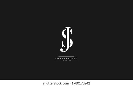 JS SJ Letter Business Logo Design Icon Alphabet Vector Template