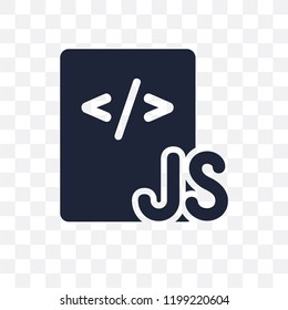 Js transparent icon. Js symbol design from Programming collection. Simple element vector illustration on transparent background.