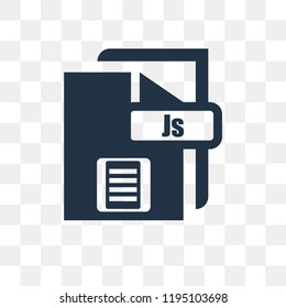 Js vector icon isolated on transparent background, Js transparency concept can be used web and mobile
