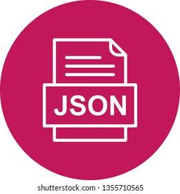 JSON File Document Icon