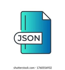 JSON File Format Icon. JSON extension gradiant icon.