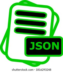 JSON File Format Icon Vector For Web And Apps