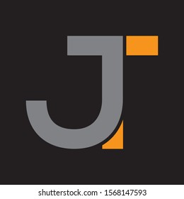 JT company letter vector logo