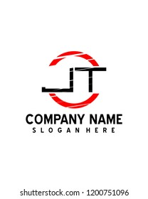 JT Initial logo with circle template vector