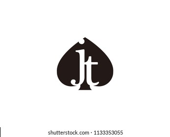 The jt initials logo inside the black shovel