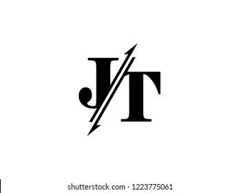 JT initials logo sliced