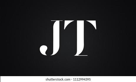 JT Letter Logo Design Template Vector