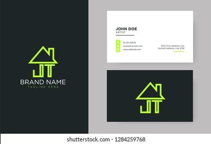 JT Letter Real Estate Logo Design - Real estate logo.