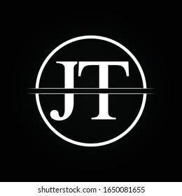 JT letter Type Logo Design vector Template. Abstract Letter JT logo Design
