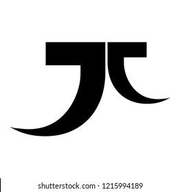 jt letter vector logo. jj letter vector logo