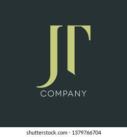 JT logo design. Company logo. Monogram