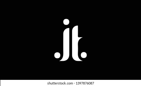 JT logo design template vector illustration