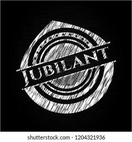 Jubilant chalkboard emblem