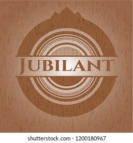 Jubilant realistic wood emblem