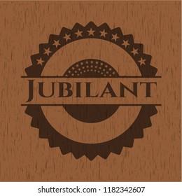 Jubilant wood emblem