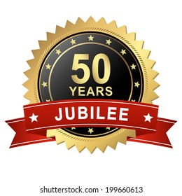 Jubilee Button with Banner - 50 YEARS