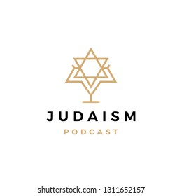 judaism podcast logo icon for jews blog video vlog channel