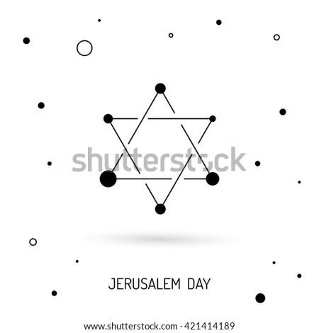 Judaism Religion Symbols Vector Israel Judaism Stock Vector Royalty