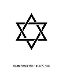 Judaism Star of David sign icon. Element of religion sign icon for mobile concept and web apps. Detailed Judaism Star of David icon can be used for web and mobile on white background