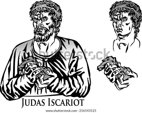 Image vectorielle de stock de Judas Iscariot Apostle Who Betrayed ...