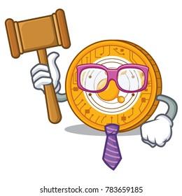 Judge BitConnect coin character cartoon