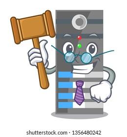 Judge data server above the cartoon tables