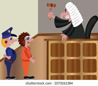 a judge delivering a sentence