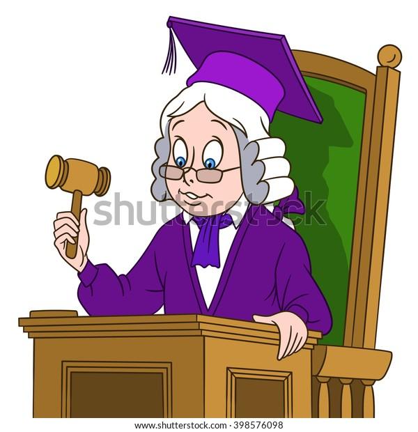 Judge Gavel Cartoon Character Isolated On Stock Vector ...