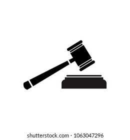 Judge Gavel Icon, Symbol Vector