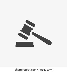 Judge Gavel Icon in trendy flat style isolated on grey background. Law symbol for your web site design, logo, app, UI. Vector illustration, EPS10.