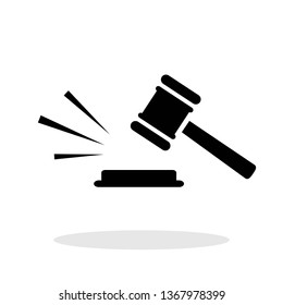 Judge Gavel / Judgement / Justice icon in trendy flat style. Vector Illustration EPS 10.