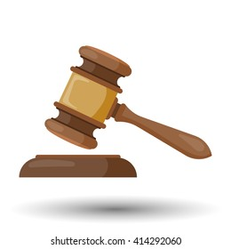 Judge gavel vector colorful icon