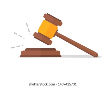 Judge hammer icon law gavel. Auction court hammer bid authority concept symbol.