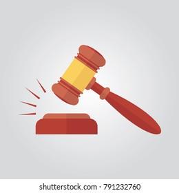 Judge hammer vector illustration